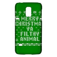 Ugly Christmas Ya Filthy Animal Galaxy S5 Mini by Onesevenart