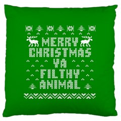 Ugly Christmas Ya Filthy Animal Standard Flano Cushion Case (two Sides) by Onesevenart