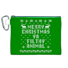 Ugly Christmas Ya Filthy Animal Canvas Cosmetic Bag (xl) by Onesevenart