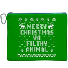 Ugly Christmas Ya Filthy Animal Canvas Cosmetic Bag (xxxl) by Onesevenart
