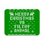 Ugly Christmas Ya Filthy Animal Double Sided Flano Blanket (Mini)