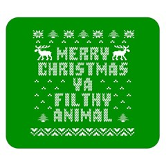 Ugly Christmas Ya Filthy Animal Double Sided Flano Blanket (small)  by Onesevenart