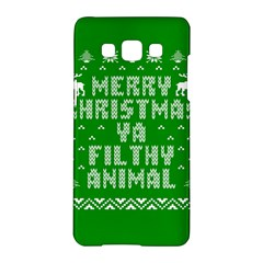 Ugly Christmas Ya Filthy Animal Samsung Galaxy A5 Hardshell Case  by Onesevenart