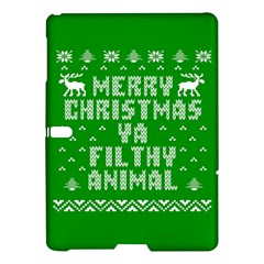 Ugly Christmas Ya Filthy Animal Samsung Galaxy Tab S (10 5 ) Hardshell Case  by Onesevenart