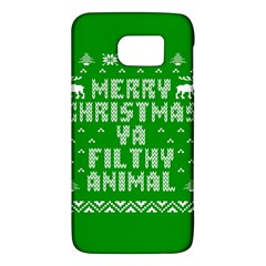 Ugly Christmas Ya Filthy Animal Galaxy S6 by Onesevenart