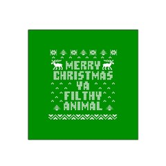 Ugly Christmas Ya Filthy Animal Satin Bandana Scarf by Onesevenart