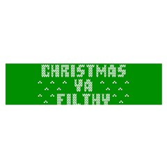 Ugly Christmas Ya Filthy Animal Satin Scarf (oblong) by Onesevenart