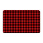 Lumberjack Plaid Fabric Pattern Red Black Magnet (Rectangular)