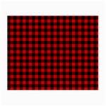Lumberjack Plaid Fabric Pattern Red Black Small Glasses Cloth