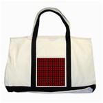 Lumberjack Plaid Fabric Pattern Red Black Two Tone Tote Bag