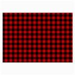 Lumberjack Plaid Fabric Pattern Red Black Large Glasses Cloth