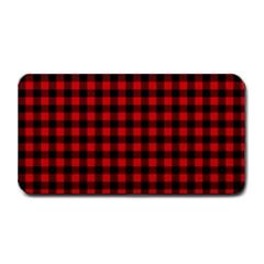 Lumberjack Plaid Fabric Pattern Red Black Medium Bar Mats by EDDArt