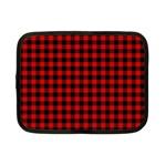 Lumberjack Plaid Fabric Pattern Red Black Netbook Case (Small)