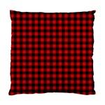 Lumberjack Plaid Fabric Pattern Red Black Standard Cushion Case (Two Sides)