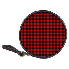 Lumberjack Plaid Fabric Pattern Red Black Classic 20 Cd Wallets by EDDArt