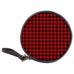 Lumberjack Plaid Fabric Pattern Red Black Classic 20-CD Wallets