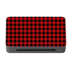 Lumberjack Plaid Fabric Pattern Red Black Memory Card Reader With Cf by EDDArt