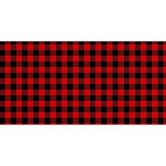 Lumberjack Plaid Fabric Pattern Red Black You Are Invited 3d Greeting Card (8x4) by EDDArt