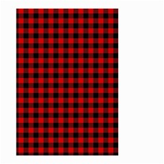 Lumberjack Plaid Fabric Pattern Red Black Small Garden Flag (two Sides) by EDDArt