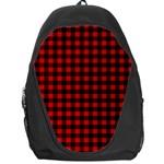 Lumberjack Plaid Fabric Pattern Red Black Backpack Bag