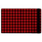 Lumberjack Plaid Fabric Pattern Red Black Apple iPad 2 Flip Case