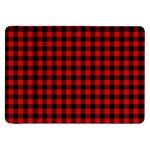 Lumberjack Plaid Fabric Pattern Red Black Samsung Galaxy Tab 8.9  P7300 Flip Case