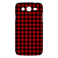 Lumberjack Plaid Fabric Pattern Red Black Samsung Galaxy Mega 5 8 I9152 Hardshell Case  by EDDArt