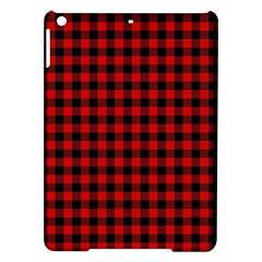 Lumberjack Plaid Fabric Pattern Red Black Ipad Air Hardshell Cases by EDDArt