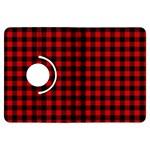 Lumberjack Plaid Fabric Pattern Red Black Kindle Fire HDX Flip 360 Case