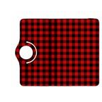 Lumberjack Plaid Fabric Pattern Red Black Kindle Fire HDX 8.9  Flip 360 Case