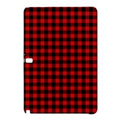 Lumberjack Plaid Fabric Pattern Red Black Samsung Galaxy Tab Pro 10 1 Hardshell Case by EDDArt