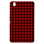 Lumberjack Plaid Fabric Pattern Red Black Samsung Galaxy Tab Pro 8.4 Hardshell Case
