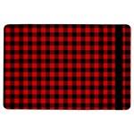 Lumberjack Plaid Fabric Pattern Red Black iPad Air Flip