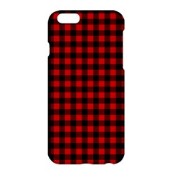 Lumberjack Plaid Fabric Pattern Red Black Apple Iphone 6 Plus/6s Plus Hardshell Case by EDDArt