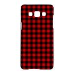 Lumberjack Plaid Fabric Pattern Red Black Samsung Galaxy A5 Hardshell Case