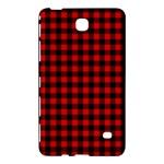 Lumberjack Plaid Fabric Pattern Red Black Samsung Galaxy Tab 4 (7 ) Hardshell Case