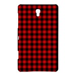Lumberjack Plaid Fabric Pattern Red Black Samsung Galaxy Tab S (8.4 ) Hardshell Case