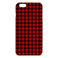 Lumberjack Plaid Fabric Pattern Red Black Iphone 6 Plus/6s Plus Tpu Case by EDDArt