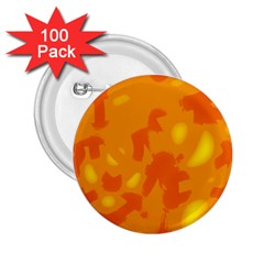 Orange Decor 2 25  Buttons (100 Pack)  by Valentinaart
