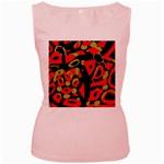 Red artistic design Women s Pink Tank Top