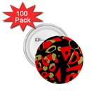 Red artistic design 1.75  Buttons (100 pack)