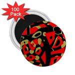Red artistic design 2.25  Magnets (100 pack)
