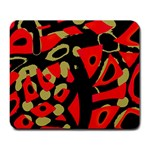 Red artistic design Large Mousepads