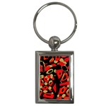 Red artistic design Key Chains (Rectangle)