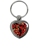 Red artistic design Key Chains (Heart)