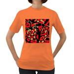 Red artistic design Women s Dark T-Shirt