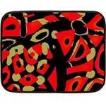 Red artistic design Double Sided Fleece Blanket (Mini)