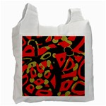 Red artistic design Recycle Bag (Two Side)