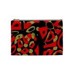 Red artistic design Cosmetic Bag (Medium)
