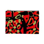 Red artistic design Cosmetic Bag (Large)
